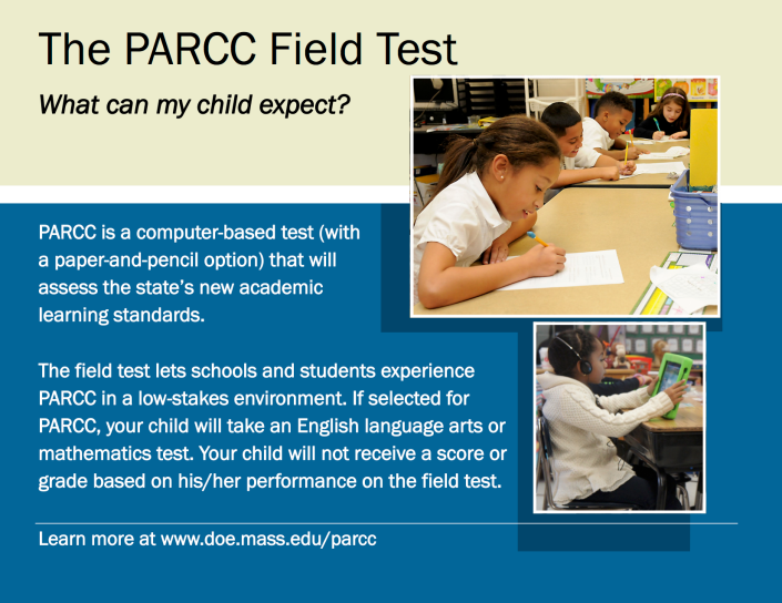 PARCC Field Test Flyer